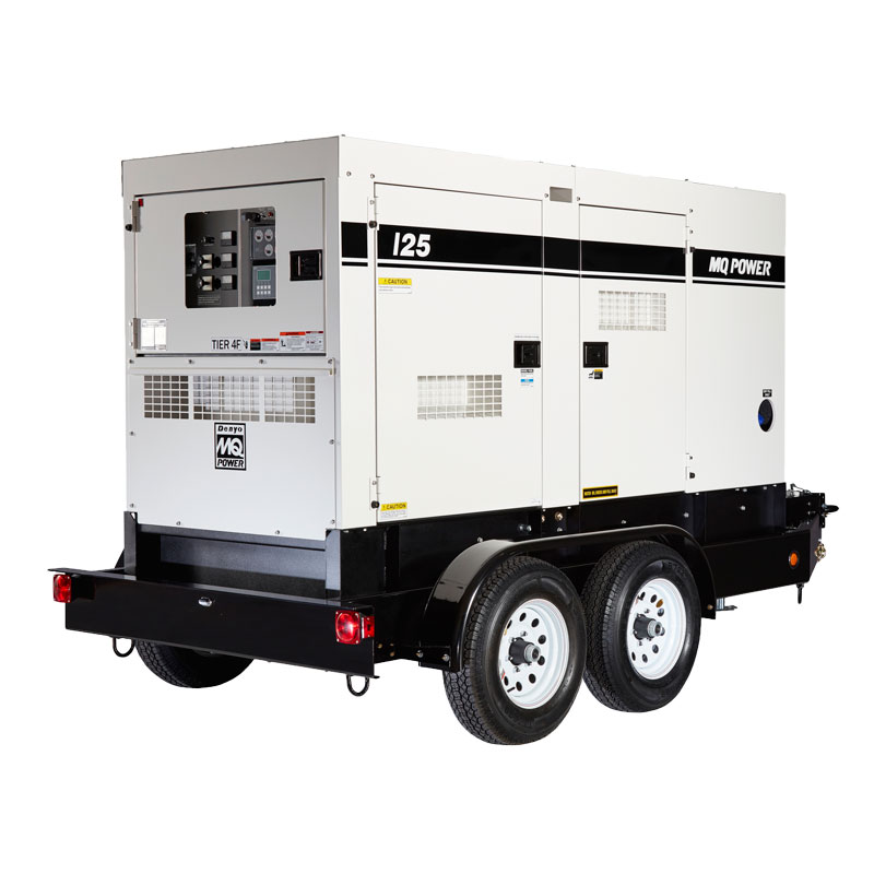 American Power Rental - 125Kva 100kW Rental Generator MultiQuip WhisperWatt